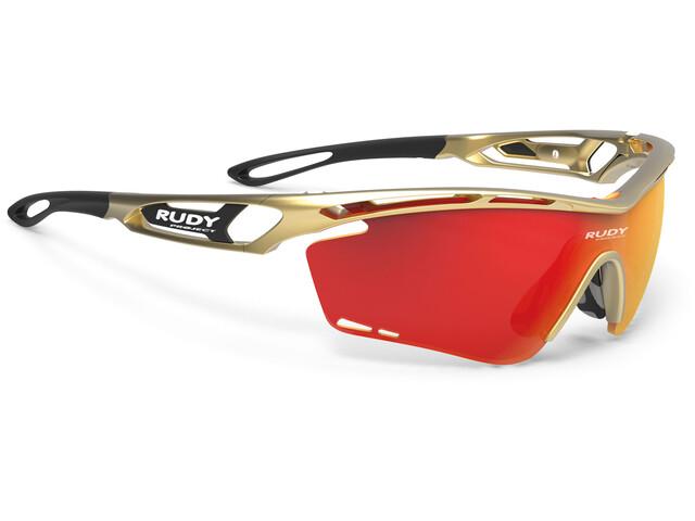 Rudy Project Tralyx Glasses Gold Velvet - RP Optics Multilaser Orange